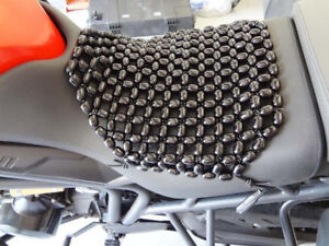 Beaded seat cover.