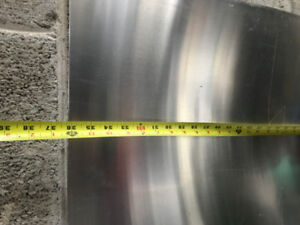 "ALUMINUM SHEET 24""x 36""  1/8th thick and Stainless"