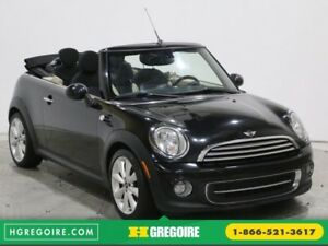 2012 Mini Cooper 2dr CONVERTIBLE MANUELLE MAGS BLUETOOTH A/C GR
