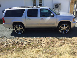26 inch chrome rims and tires ( Chev )