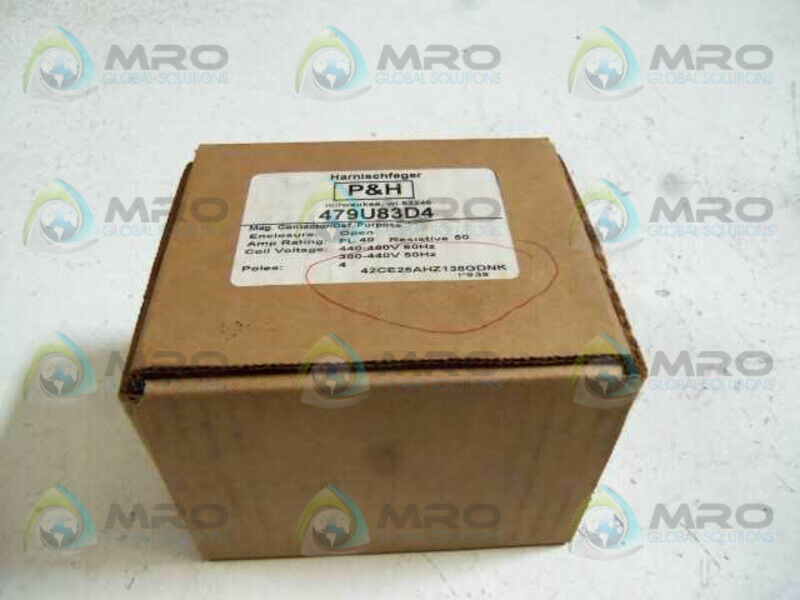 HARNISCHFEGER P&H 479U83D4 MAGNETIC CONTACTOR * NEW IN BOX *