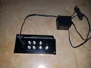 6 way coaxial cable splitter and amplifier