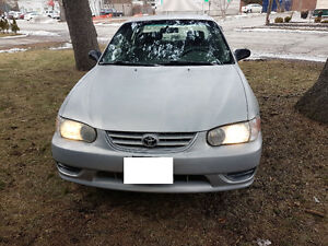 2002 toyota corolla CE with CERTIFY&EMISSION