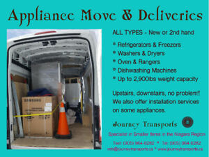 All appliances picked up and delivered, installation available