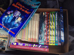 3 Boxes of Books. $1 per book, or $10 for a box.