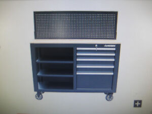 "New -  52"" HUSKY 5-Drawer Workbench"