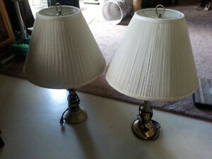 2 x Brass Table Lamps