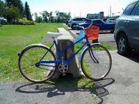 Blue Raleigh Road Bike