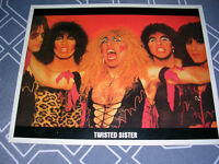 """Twisted Sister, Vintage mid 1980's 8""""x10"""" picture"""