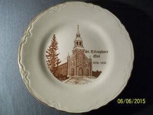 Assiette souvenir de St-Télesphore, centenaire 1876 - 1976