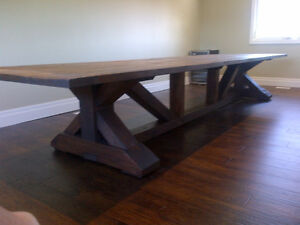 FARMHOUSE HARVEST TABLES BUILT FROM SCRATCH