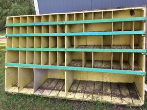 large wooden storage rack