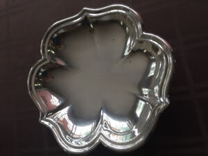 Shamrock Shaped Silver Plated Serving Dish