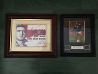 Two Eric Cantona Framed Pictures