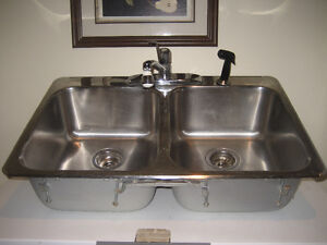 kitchen sink and faucet,