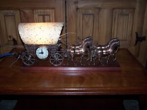 """ANTIQUE """"UNITED"""" COACH CLOCK WITH LIGHT AND WHIP ACTION."""