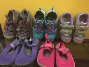 Used variety sizes girls shoes - keen, adidas, stride rite