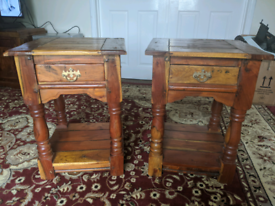 Cherry Wood Side Tables