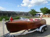 1949 CENTURY SEA MAID. 17.6 FT. DOUBLE COCKPIT FORWARD RUNABOUT . RESTORED