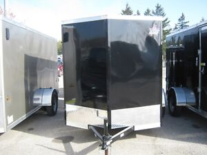 """6 x 10 + 18"""" Vnose Enclosed Utility Trailer With Rear Ramp"""