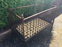 Victorian 150 Year Old Baby Child Antique Bed Cot - CAN DELIVER