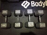 27.5kg & 30kg Hex Iron Dumb bell Set