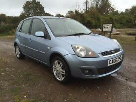 06 REG FORD FIESTA 1.4 TDCI GHIA £30 A YEAR ROAD TAX EVERY EXTRA INC LEATHER