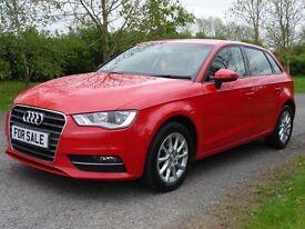 Audi A3 1.6 TDI SE SPORTBACK 105PS (red) 2014
