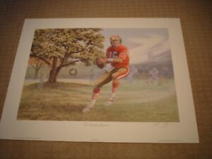 CALLING ALL SPORTS FANS: Joe Montana The Dream Begins Print