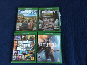 Xbox One Games (Excellent Condition)