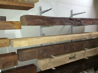 FIREPLACE MANTELS - CUSTOM MADE FROM ANTIQUE WOOD