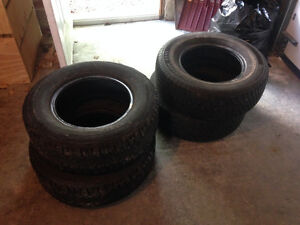 Tires P215/70R14 All Seasons X2, Winters X2 $50 for the set