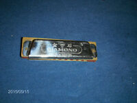 VINTAGE DIAMOND TOY HARMONICA-SHANGHAI, CHINA-LOOSE-1970S
