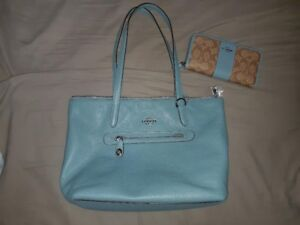 Coach Taylor Turnlock Tote & Wallet