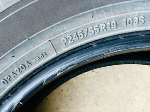 P245/55R19  selling 4 Toyo Open Country All-Season Tires.