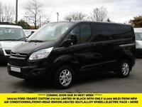 2013 FORD TRANSIT CUSTOM 270/125 LIMITED SWB IN BLACK WITH ONLY 51.000 MILES,AIR