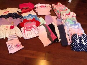 Baby girl clothing 3-6 months plus 2 snowsuits