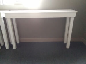 All white thin Tables