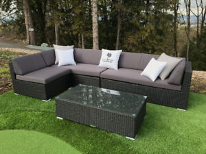Charcoal Grey Four Piece Classic L Sectional - Pre Orders - Free