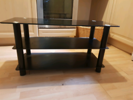Black Silver Tv stand