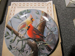 """The Cardinal"" collectible plate."