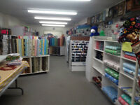 Craft, Fabrics, and Alterations Store for Sale