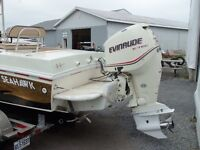 Evinrude E-Tech 250 hp 2006(89 heures seulement)