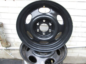 """4- 15""""steel rims .  6 bolt pattern.  Great condition.  No rust."""