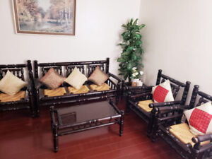 Antique fully wooden couch set