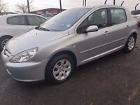 PEUGEOT 307 SE AUTO 2005 5 DOOR ONLY DONE 65k. YEAR MOT.FULL LEATHER DRIVES PERFECT