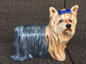"The Townsends Ceramic LIFE SIZE 14"" Yorkshire Terrier Dog"