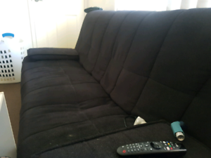 Black Couch Foldout