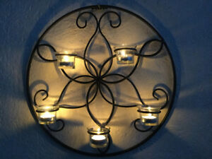 Large Wall Metal Bombay tealight candle holder