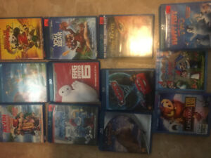 Huge lot of Kids blu Ray movies